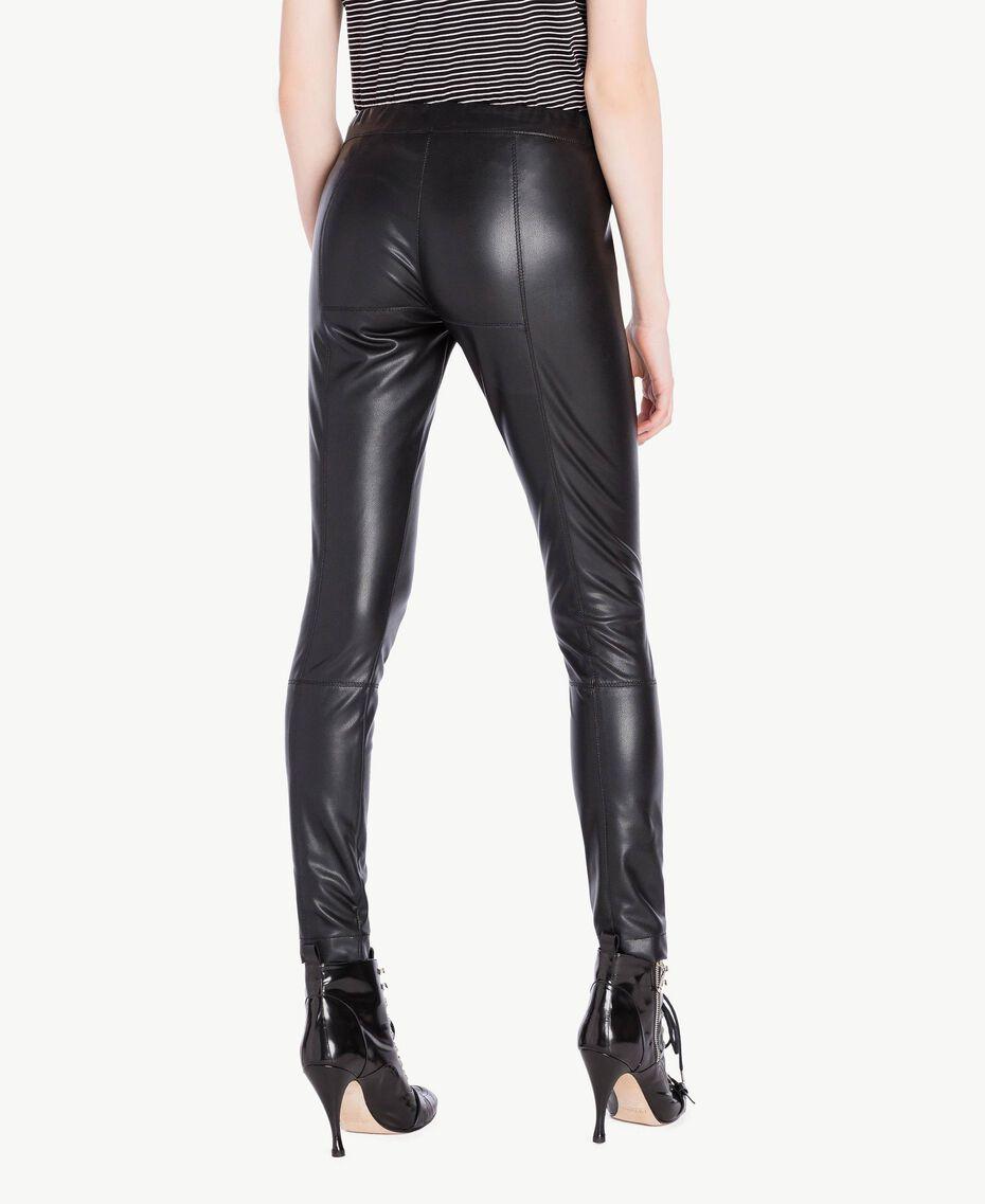 Faux leather leggings Black Woman PS82GA-03