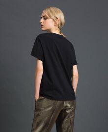 T-shirt con stampa Nero Donna 192TT2561-04