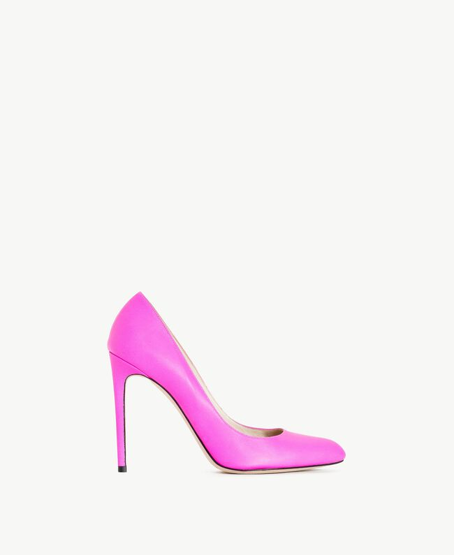 TWINSET Leather court shoe Hydrangea Pink Woman CS8PD1-01