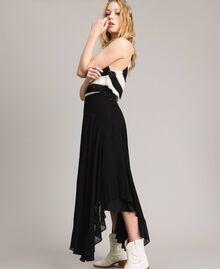 Georgette mid-length skirt Black Woman 191TP2125-02