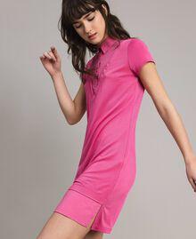 Minirobe chemise en jersey Bouton De Rose Femme 191LL23NN-01
