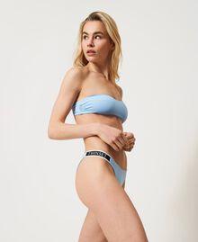 """Bikini con brassière monospalla e brasiliana Blu """"Cielo"""" Donna 211LMMPXX-03"""