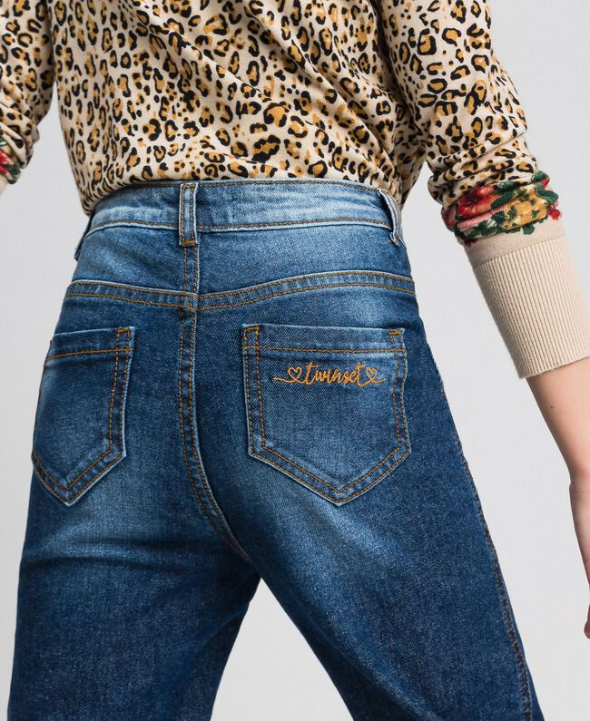 Jeans fatigue con tasche Denim Medio Bambina 192GJ2540-04