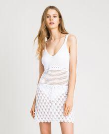 Vestido de algodón calado Blanco Mujer 191LB3GCC-02