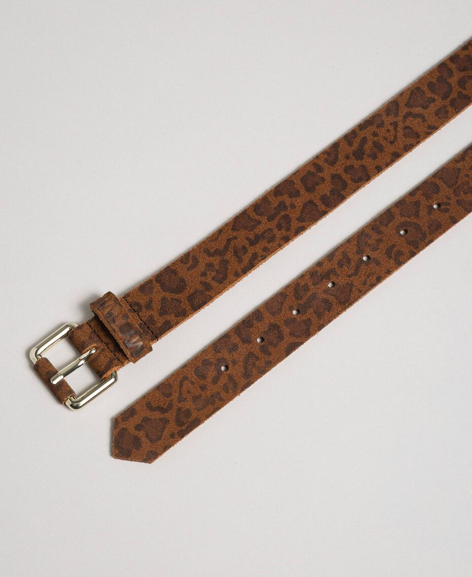 Cintura in pelle stampa animalier Stampa Animalier Donna 192MA4340-03