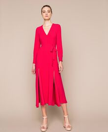 Long dress with slits Black Cherry Woman 201TP2433-04