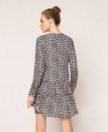 Платье из жоржета с животным принтом Принт Животный Лилия / Черный женщина 201MP2440-04
