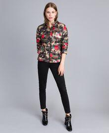 Printed light padded jacket Camouflage Flower Rose Print Woman JA82AN-0T