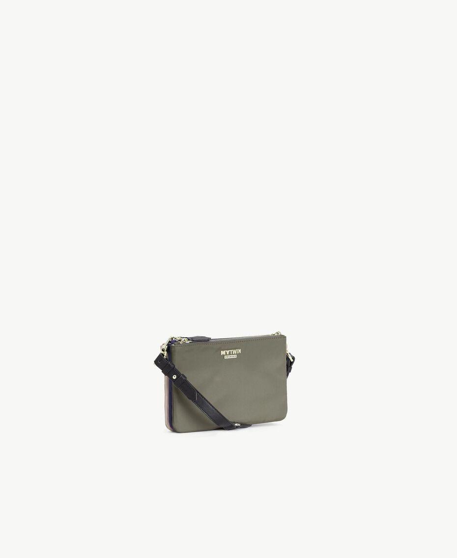 TWINSET Umhänge-Pochette Multicolor Armeegrün / Schwarz / Misty Pink Frau VS8PDB-02