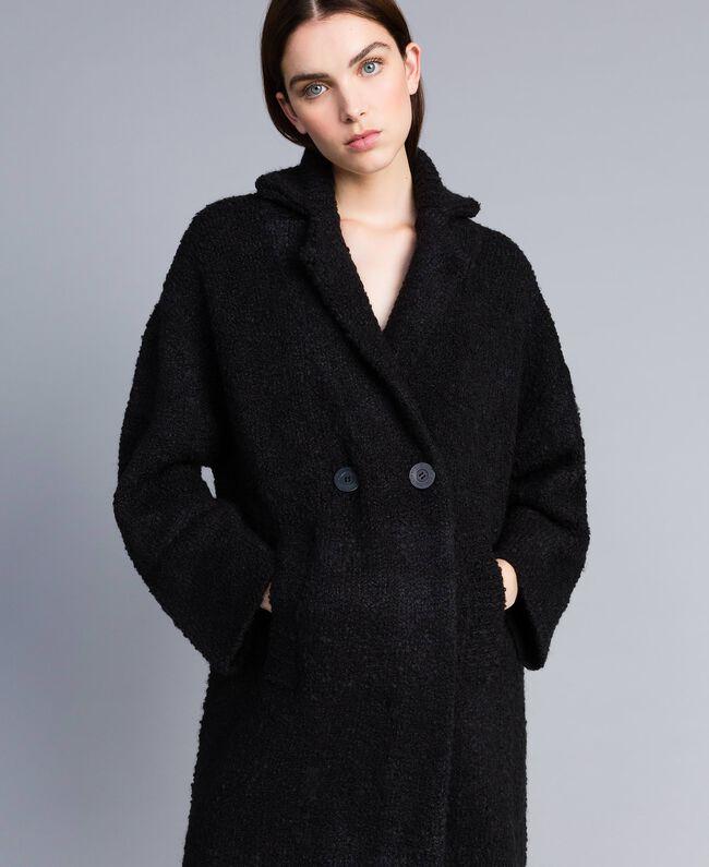 Bouclé coat Black Woman SA83CA-04