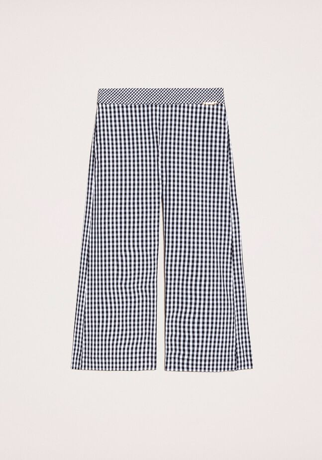 Cropped-Hose mit Vichy-Muster