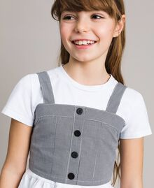 Jersey T-shirt and gingham top Two-tone Optical White / Gingham Child 191GJ2730-04