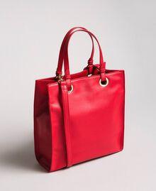 Mon Coeur Tote-Bag aus Lederimitat Rot Frau 191TQ701A-03