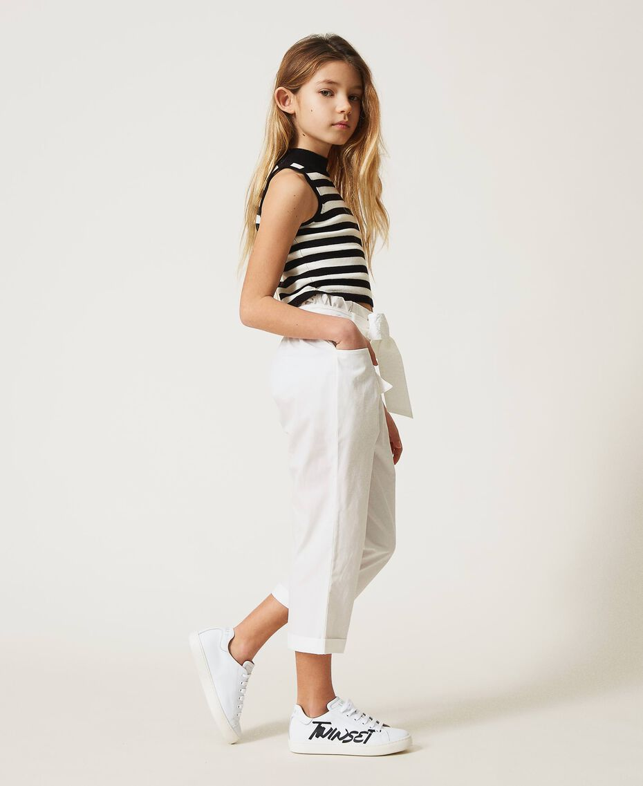 Poplin trousers Off White Child 211GJ2234-02