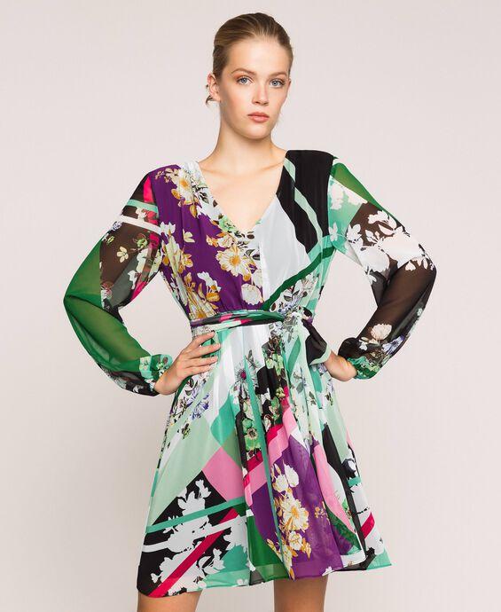 Printed georgette dress
