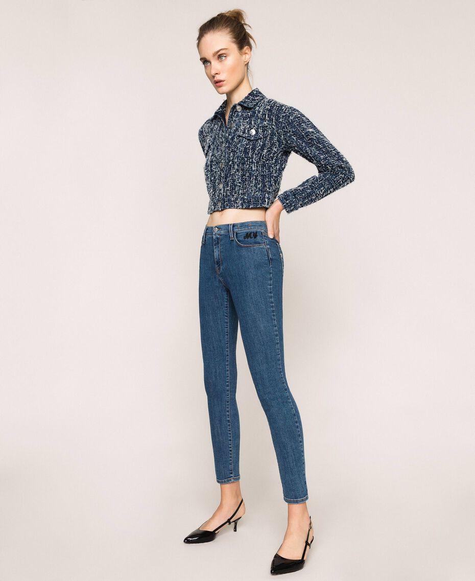 Five-pocket skinny jeans Denim Blue Woman 201MP2321-02