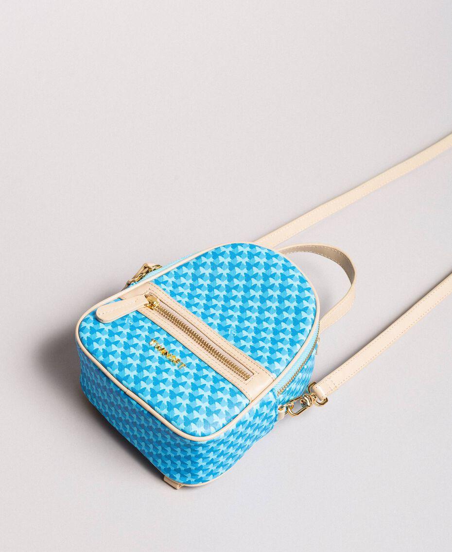 Minirucksack mit Schmetterlingsprint Motiv Mikonos Hellblaue Schmetterlinge Frau 191TA7176-03