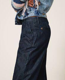 Tapered fit jeans Dark Denim Woman 202MP2071-05