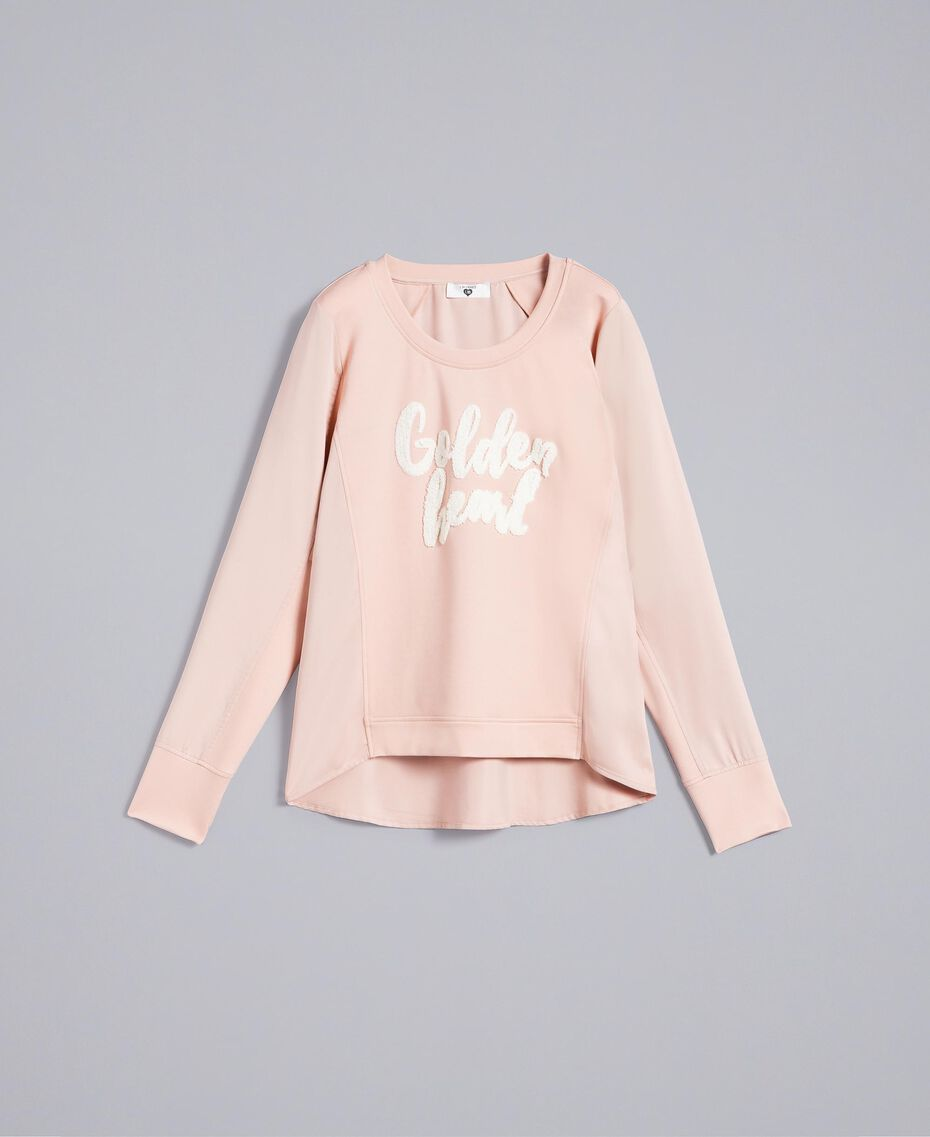 Sweat en satin avec broderie Rose Ballerines Femme IA83FF-0S