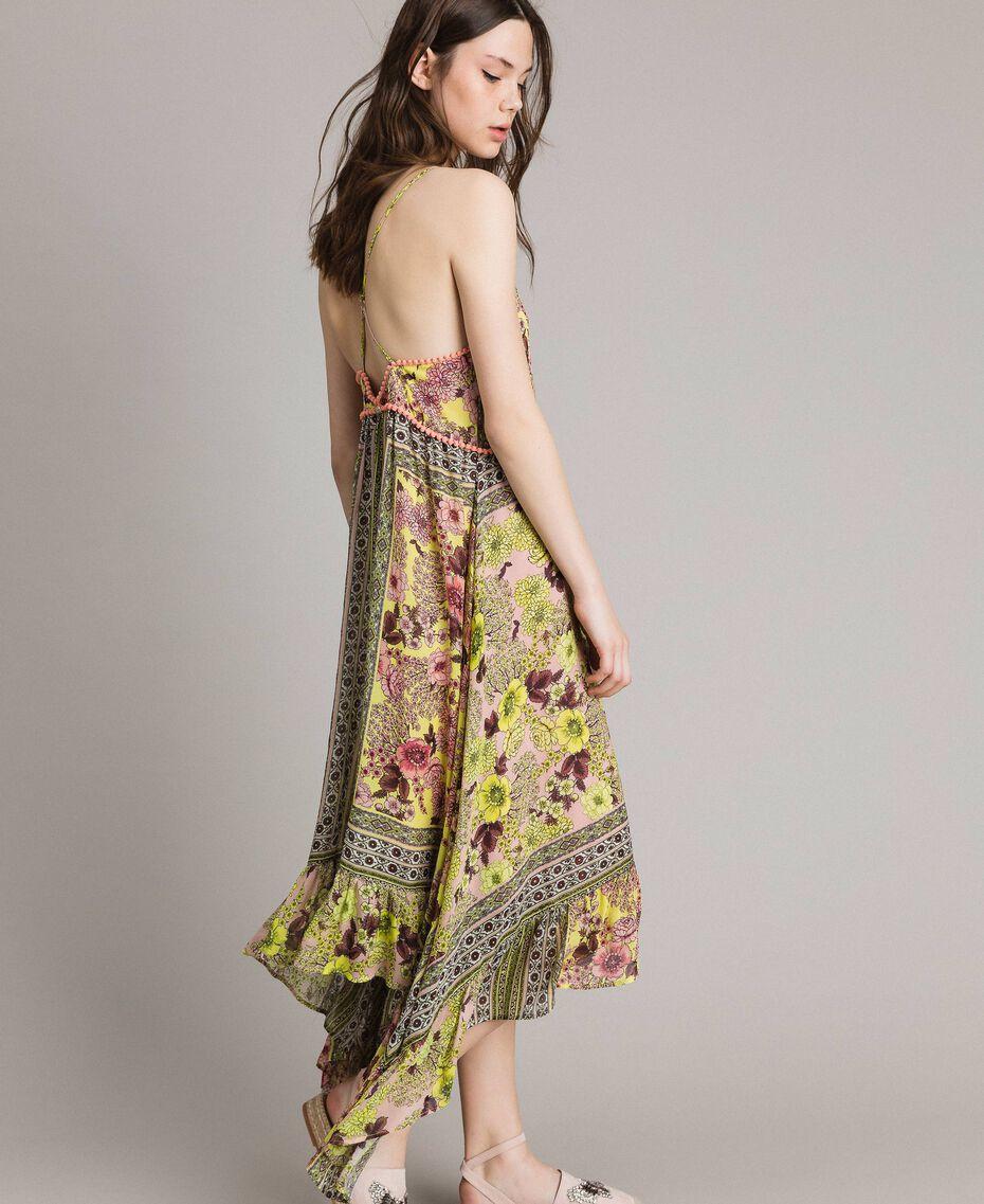 """Robe en mousseline avec imprimé foulard Imprimé Foulard Jaune """"Jus De Citron"""" Femme 191LB2HEE-01"""