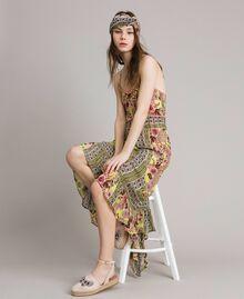 """Robe en mousseline avec imprimé foulard Imprimé Foulard Jaune """"Jus De Citron"""" Femme 191LB2HEE-0T"""