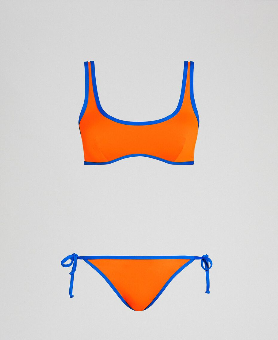 Reversible bikini Fluorescent Orange / Fluorescent Blue Woman 191TQM023-01
