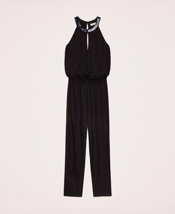 Jumpsuit with sequins