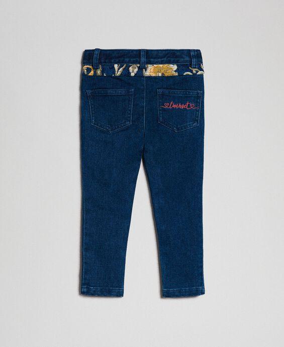 Pantalon skinny avec poches jacquard