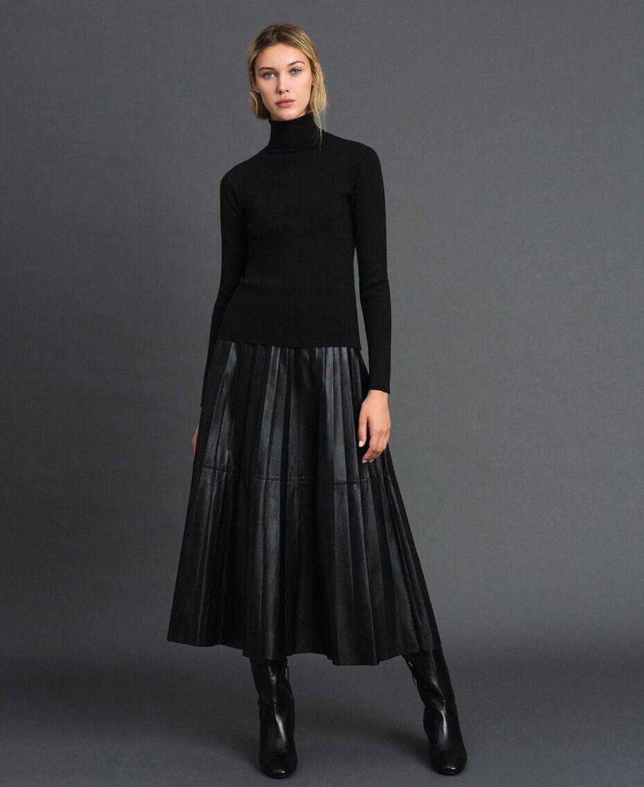 Knit turtleneck Black Woman 192MT3015-02