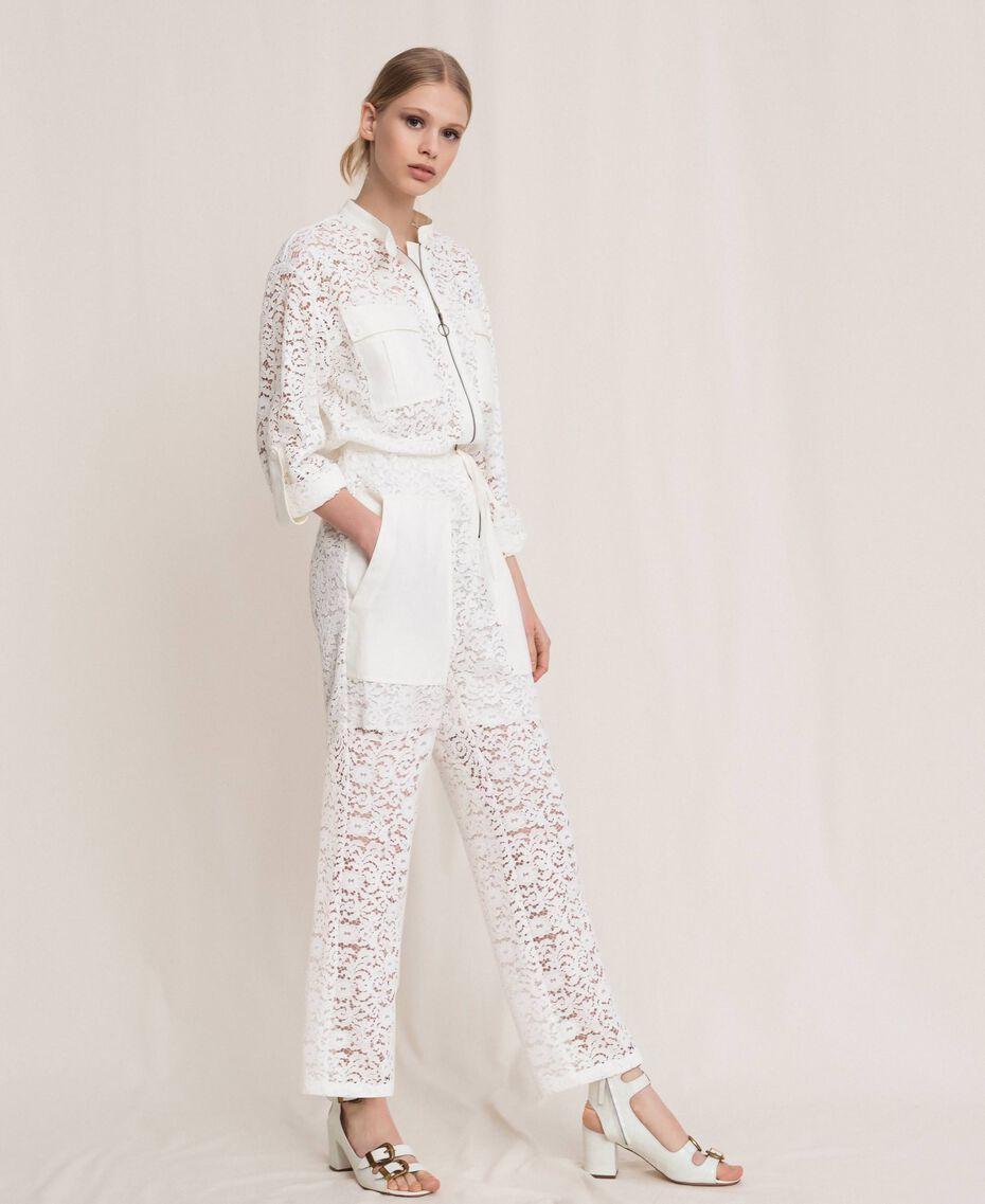 Macramé lace jumpsuit Black Woman 201TP2195-02