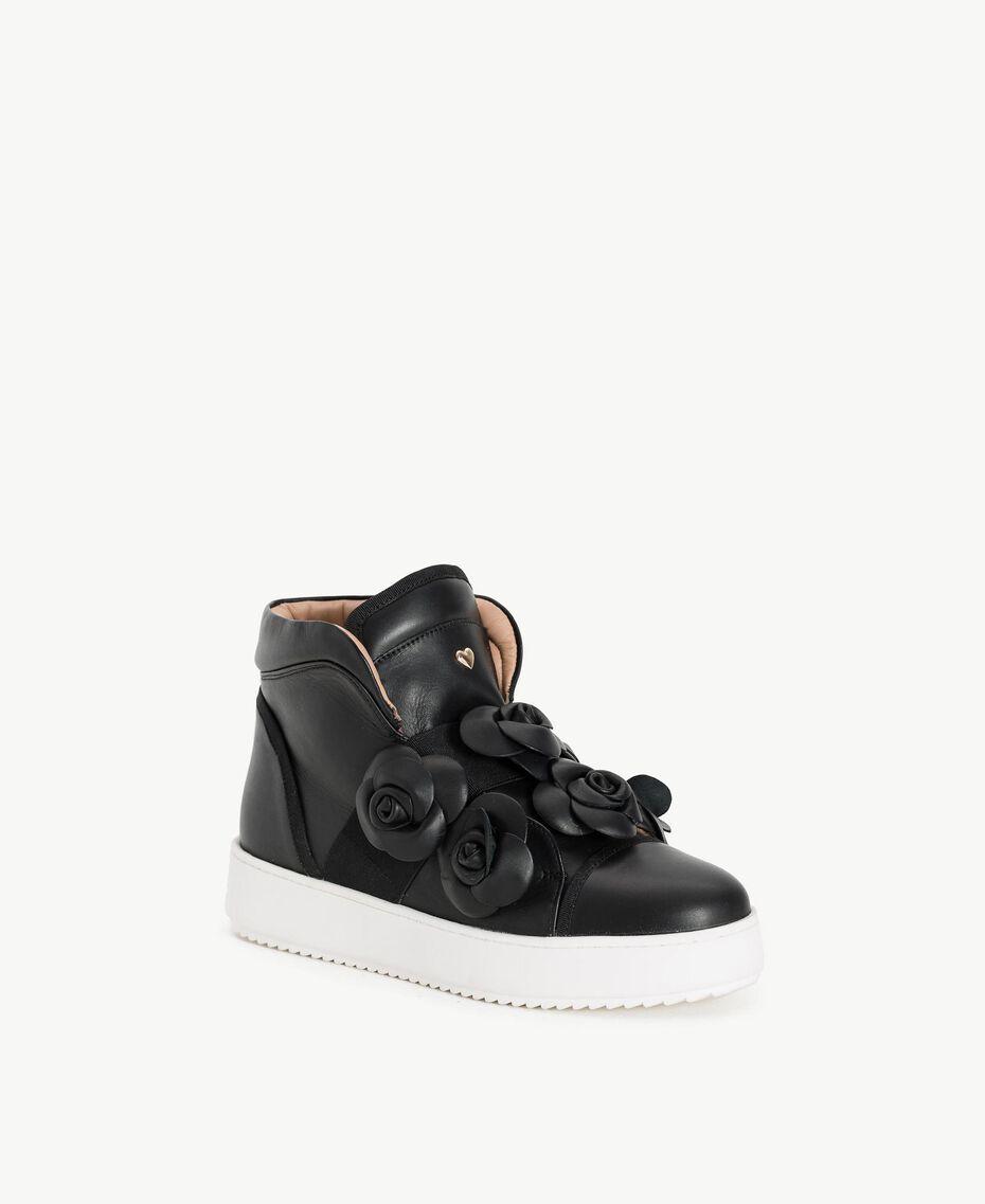 TWINSET Flower sneakers Black Woman CS8PJW-02