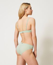 """Jacquard underwire bra with lace """"Pastel Green"""" Woman 211LL6255-03"""