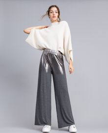 Jersey palazzo trousers Medium Gray Mélange Woman IA81KK-01