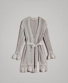 Maxi cardigan in lurex Silver Donna 191TP3352-0S