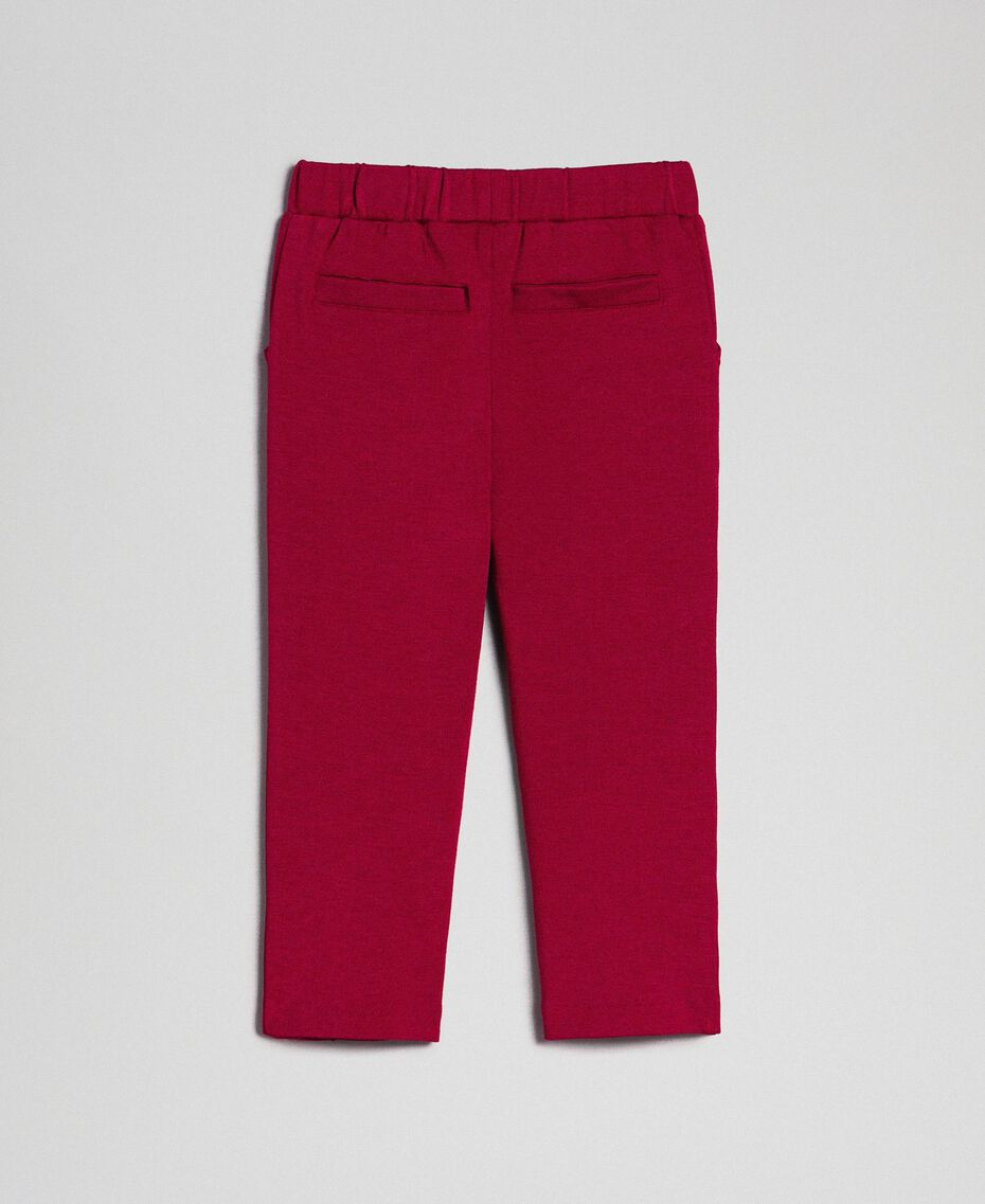 Leggings mit Seitentaschen Ruby Wine Rot Kind 192GB2250-0S