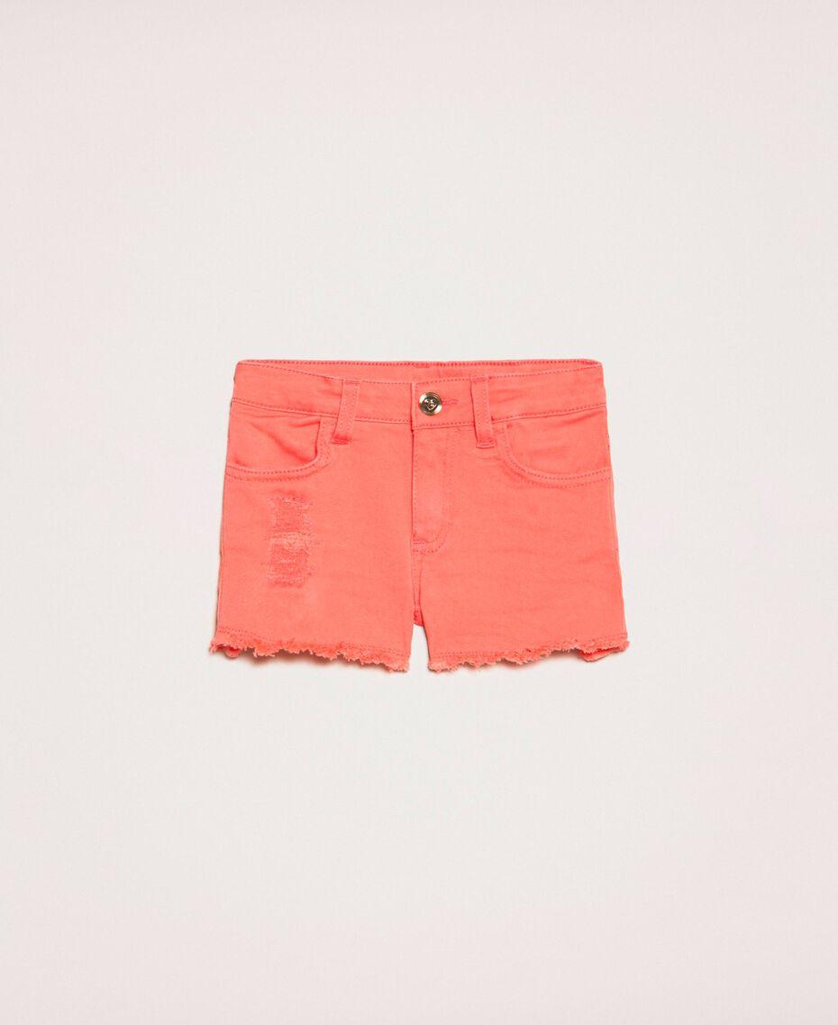 Short avec accrocs Rouge «Calypso Coral» Enfant 201GB2031-01