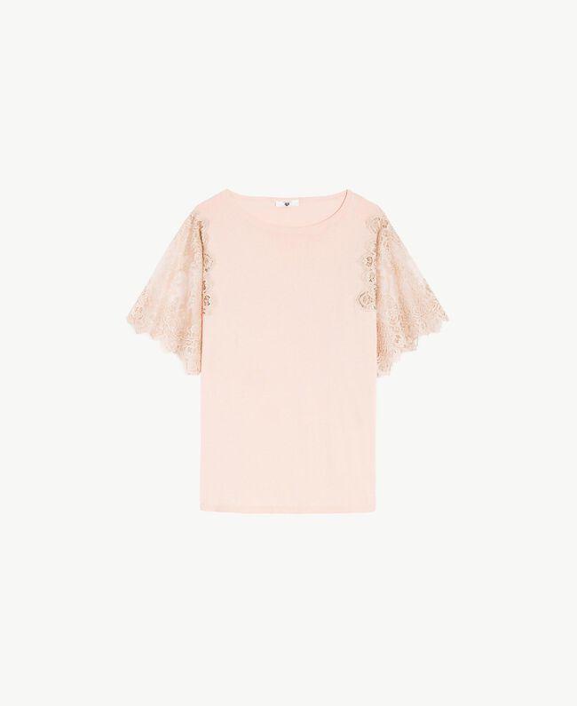 Maxi pull coton Rose «Pêche Poudré» Femme LS8CCC-01
