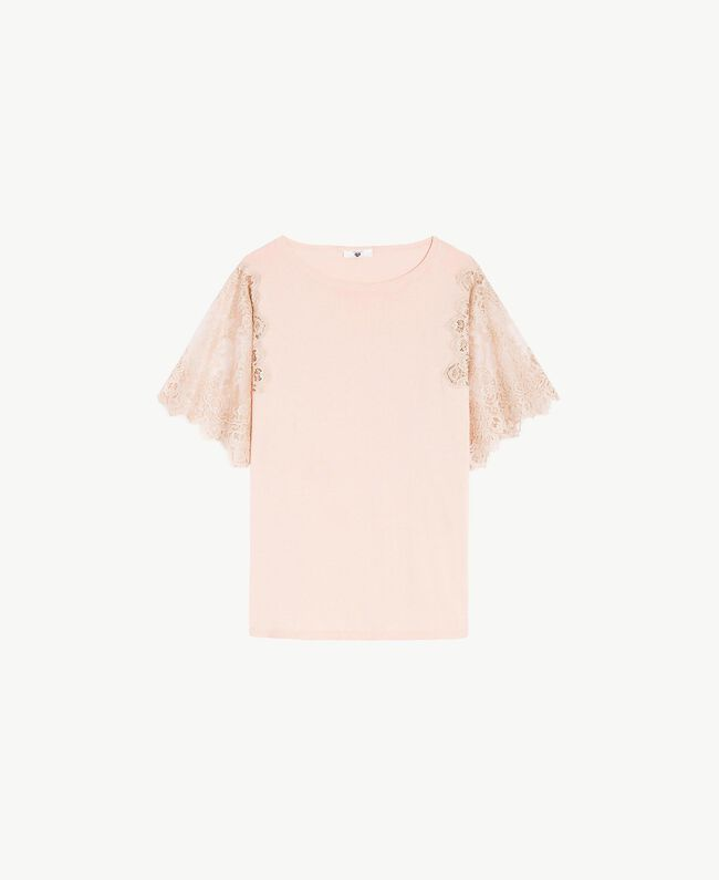"Cotton maxi jumper ""Peach Powder"" Pink Woman LS8CCC-01"