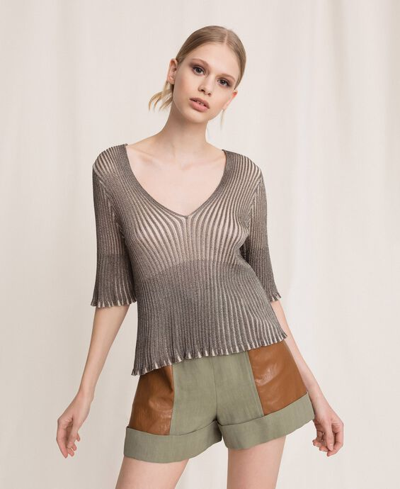 Pullover aus Lurexgarn