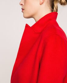Manteau en drap double Rouge «Lave» Femme 201TP242A-01