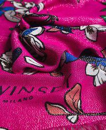 Écharpe en lurex et viscose à imprimé floral Imprimé Anémone Sylvie Rose Femme 191TA4368-03