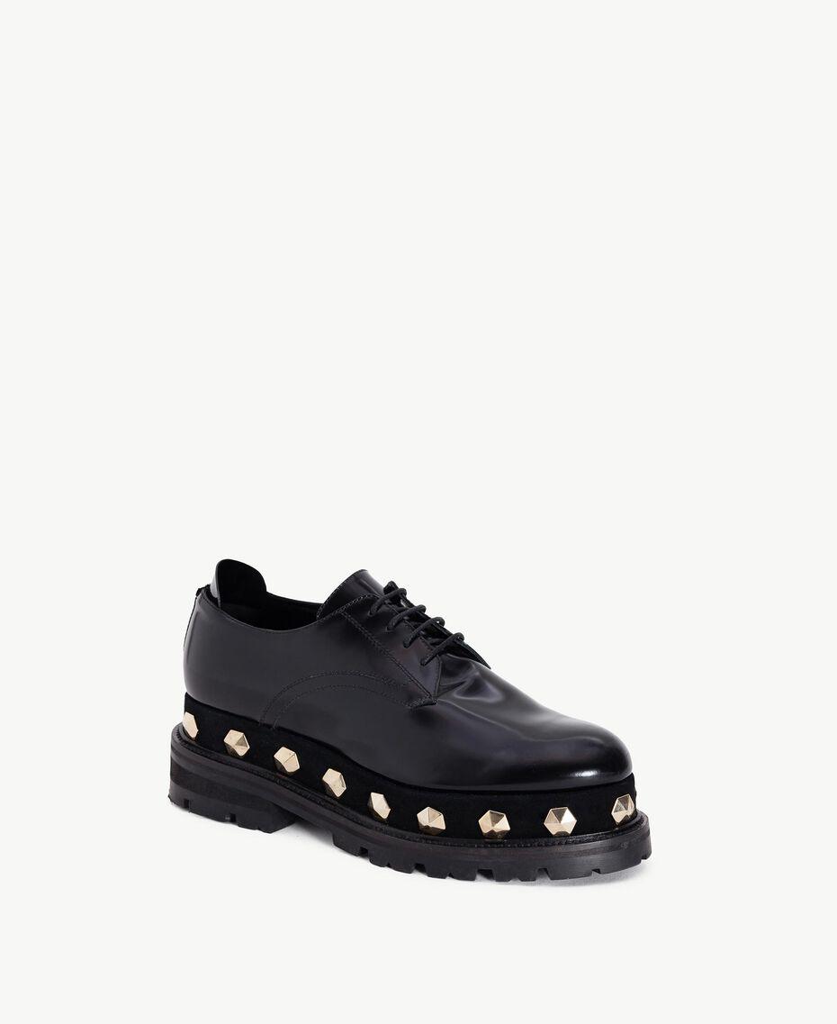 TWINSET Chaussures à lacet clous Noir Femelle CA7TGJ-02