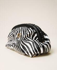 Soft clutch bag with animal print Zebra Print Woman 212TB7231-02