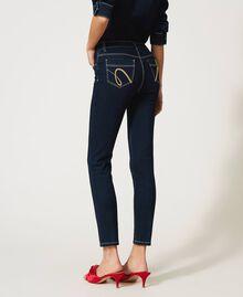 """'Vega"""" skinny jeans Dark Denim Woman 211MT2383-05"""