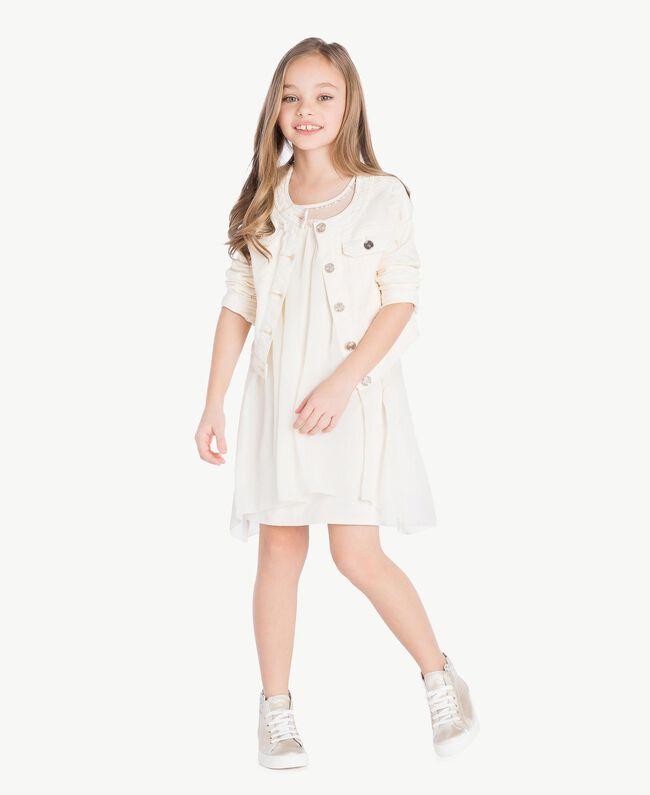 Mandarin collar jacket Pale Cream Child GS82CN-06
