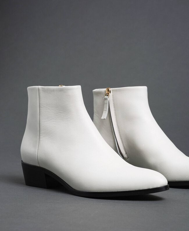 Leather ankle boots Off White Woman 192TCP12N-01