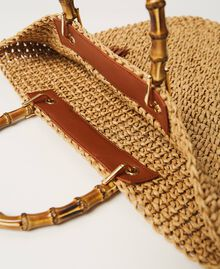 Weaved raffia shopper Straw Woman 211TD8240-06