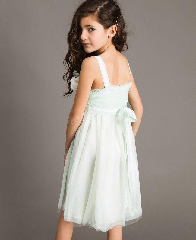 """Robe en tulle avec broche en forme de fleur """"Aigue"""" Bleu clair Enfant 191GJ2QM0-04"""