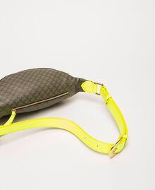 Sac banane en similicuir imprimé papillons Imprimé Papillon Vert «Camouflage»/ Jaune Fluo Femme 201TA7244-03