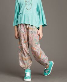 Muslin trousers with paisley print Paisley Print Child 191GJ2511-02